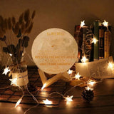 Engraved moon lamp
