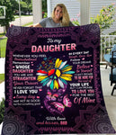 Dad To Daughter, Follow Your Dreams, Engraved Fleece Blanket