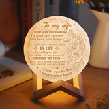 Engraved Moon Light Lamp
