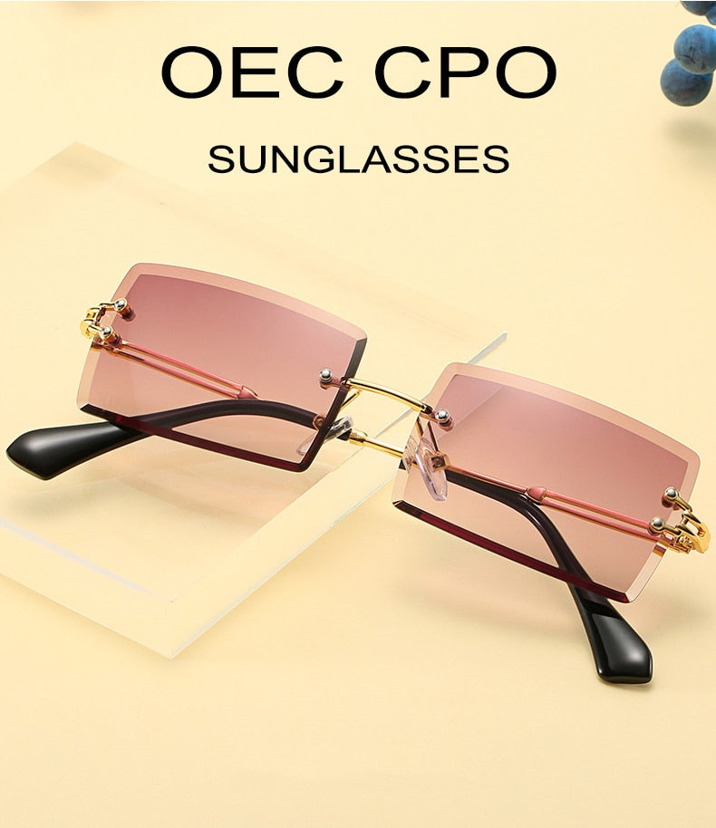 🔥HOT SALE!!🔥Rimless Rectangle Sunglasses