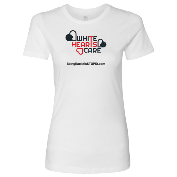 White Hearts Care - Tee - Womens