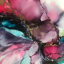 "Load image into Gallery viewer, 'This is the Season' | Original Alcohol Ink Abstract Painting | 9"" x 12"""