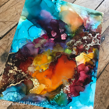 "Load image into Gallery viewer, Release'' | Original Alcohol Ink Abstract Painting | 11"" x 14"""