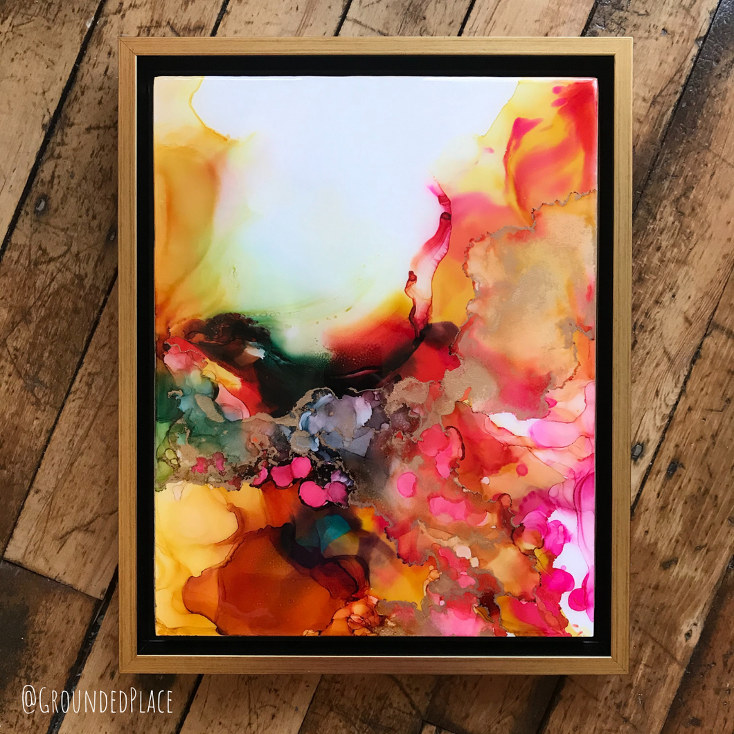 'Nesting' | Original Alcohol Ink Painting | 11