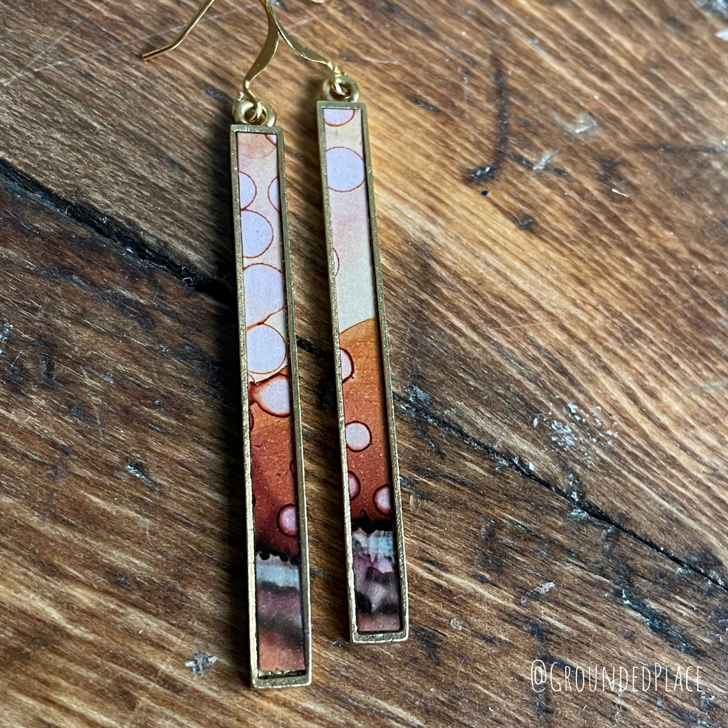Alcohol Ink Earrings | *DISCOUNTED* | 3