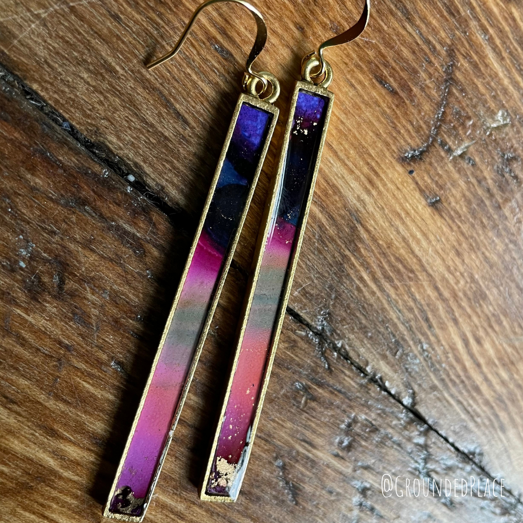 Alcohol Ink Earrings | 3