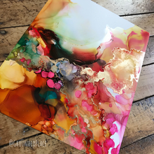 "Load image into Gallery viewer, 'Nesting' | Original Alcohol Ink Painting | 11"" x 14"""