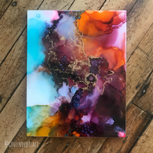 "Load image into Gallery viewer, 'Eye of the Storm' | Original Alcohol Ink Abstract Painting | 11"" x 14"""