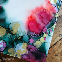 "Load image into Gallery viewer, 'Merveilleux' | Alcohol Ink | Original Painting | 10"" x10"""
