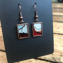 Load image into Gallery viewer, Alcohol Ink Earrings | Red, Orange, White, Blue, Grey, Copper | Handmade