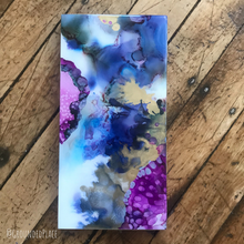 "Load image into Gallery viewer, 'Viv' | Original Alcohol Ink Abstract Painting | 6""x12"""