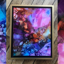 "Load image into Gallery viewer, 'Breakthrough' | Original Alcohol Ink Abstract Painting | 11"" x 14"""