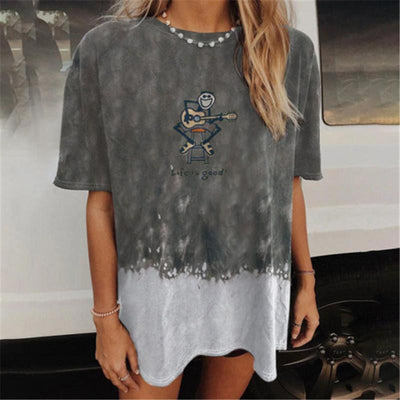 Women's loose casual printed short-sleeved t-shirt