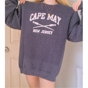 Women's grey casual printed sweatshirt