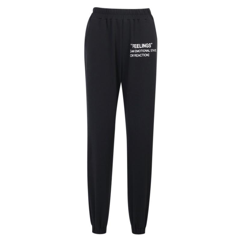 Fashion letter printed sports casual pant