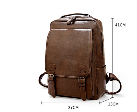 Measurements and Dimensions of Brown Vintage Leather Backpack Quadrata