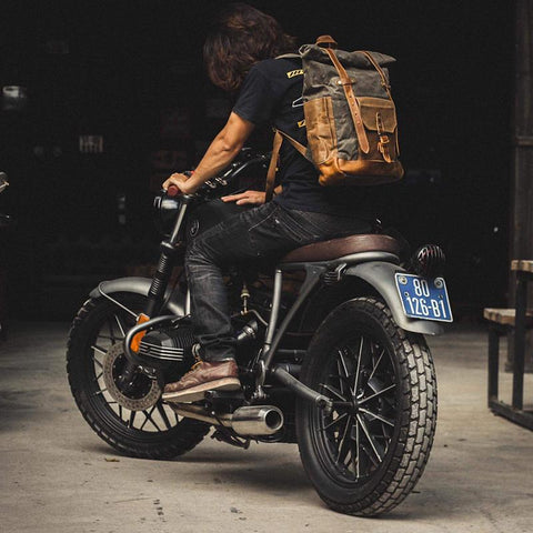 Brown Waxed Canvas Luxury Leather Backpack Gentcreate