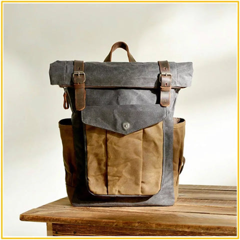 Retro Vintage Canvas Backpack Deliciae - 1950s Backpack