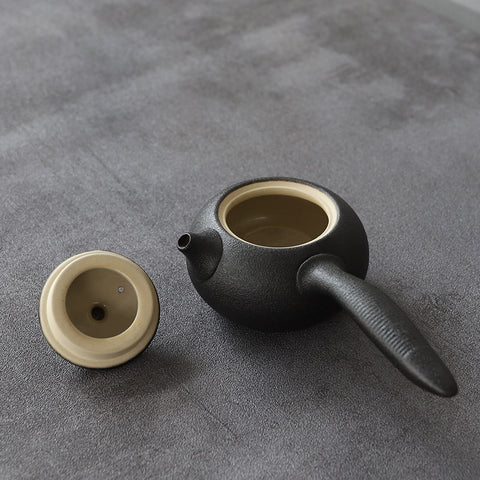 Japanese Black Ceramic Teapot - Gentcreate