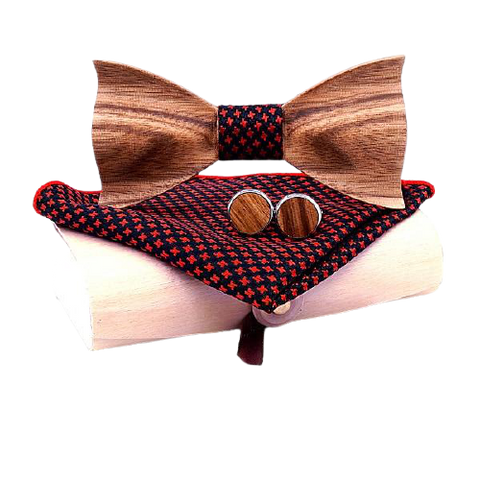 Wooden 3D Bow Tie - Gentcreate