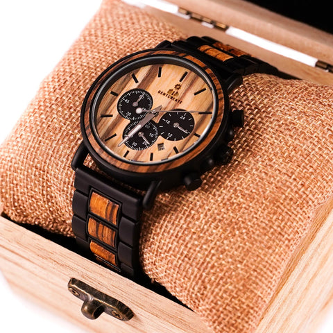 "Light Wood Watch ""Suaviter"" - Gentcreate"