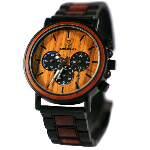 "Dark Wood ""Suaviter"" Watch - Gentcreate"