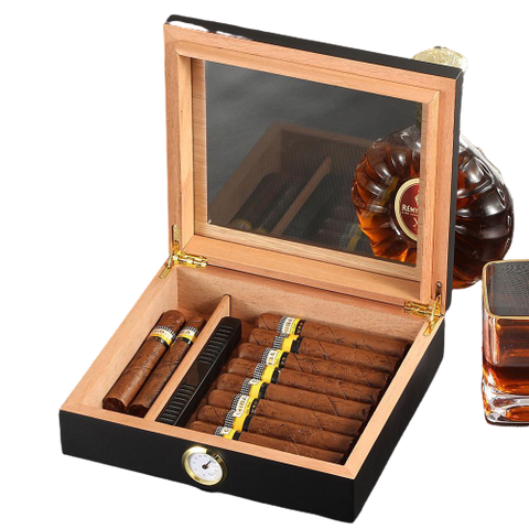 Cedar Wood Cigar Humidor - Gentcreate