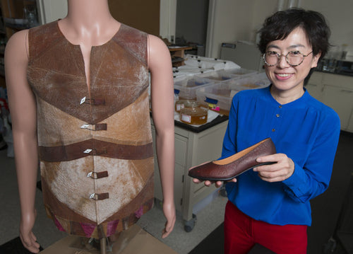 Scientist Young-A Lee and her group at Iowa State University Vegan Leather Gentcreate