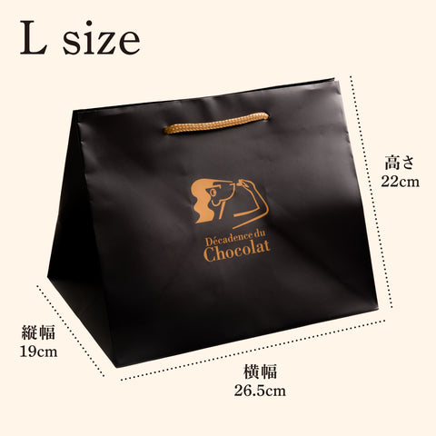 Paper bag with logo (L size)