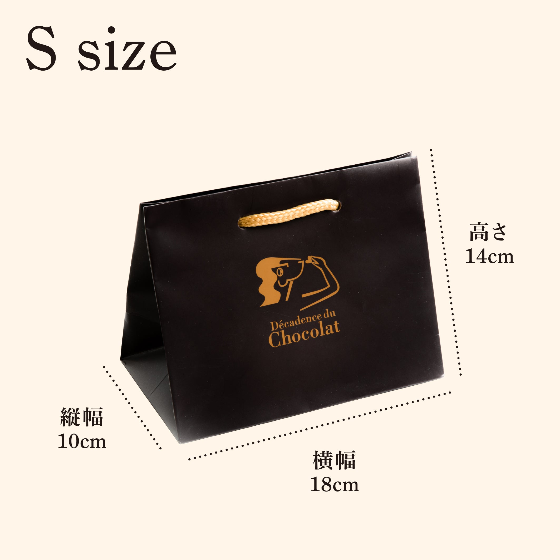 Paper bag with logo (S size)