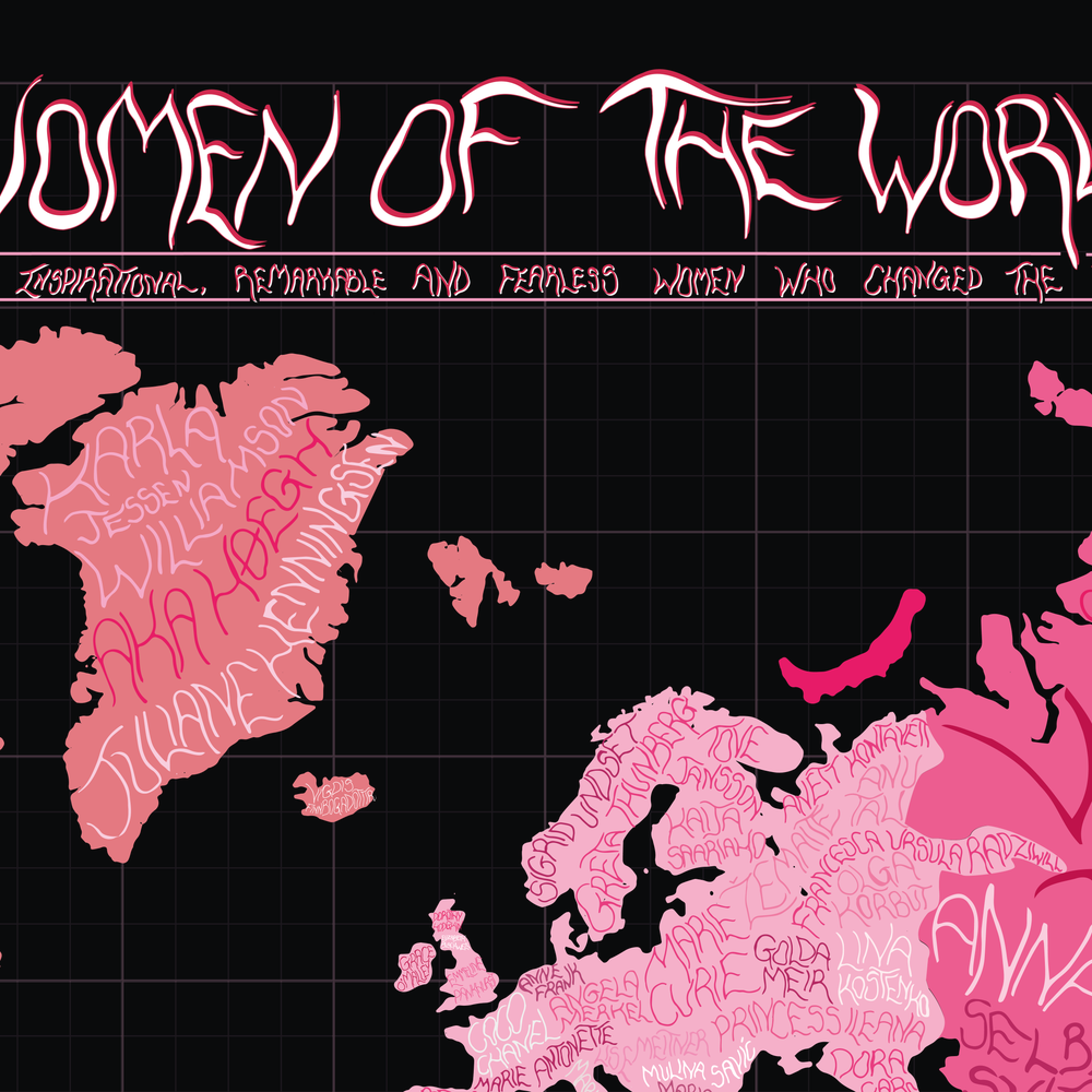 women of the world map