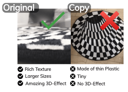 Vortex Rug 3D Comparison