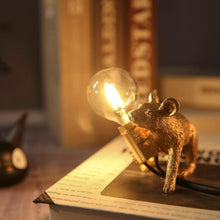 Load image into Gallery viewer, Marcuzzi Designer Mouse Lamp - Gold Crawling -