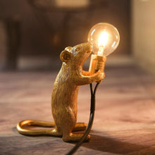 Load image into Gallery viewer, Marcuzzi Designer Mouse Lamp - Gold Standing -