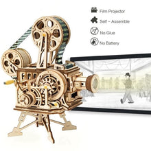 Load image into Gallery viewer, Vitascope™ - The Wooden 3D Vintage Film Projector Puzzle -