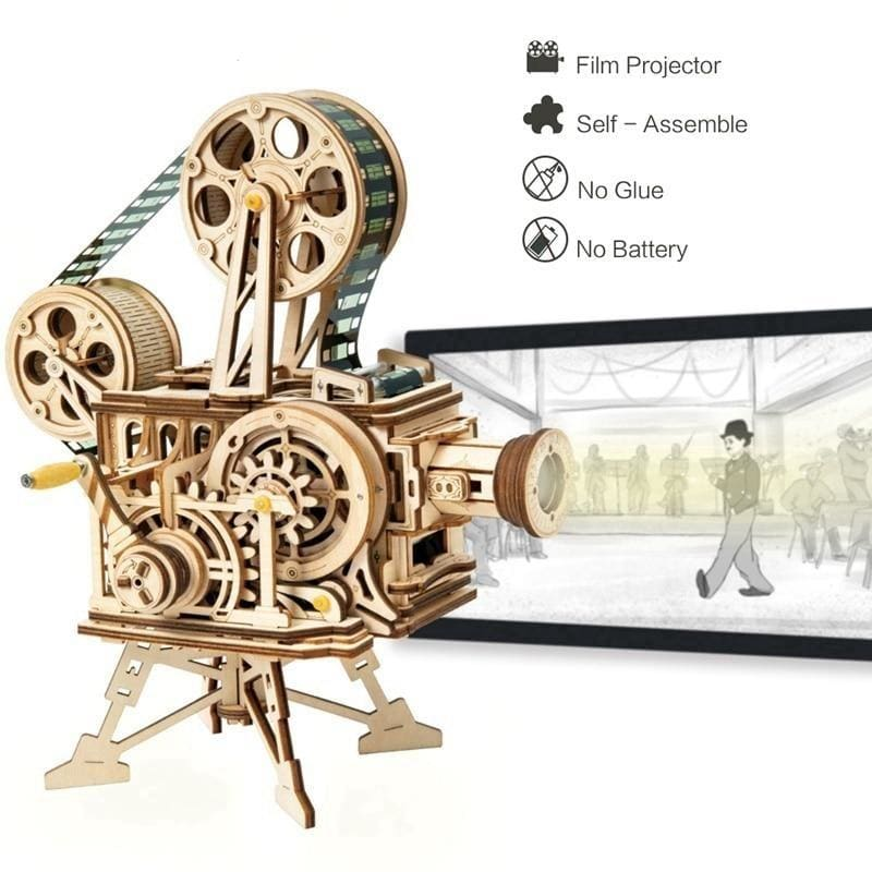 Vitascope™ - The Wooden 3D Vintage Film Projector Puzzle -