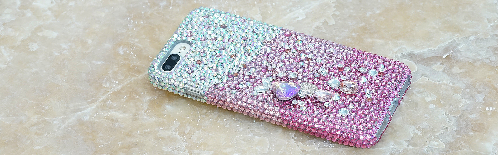 pink crystals iphone 7 / 8 plus case