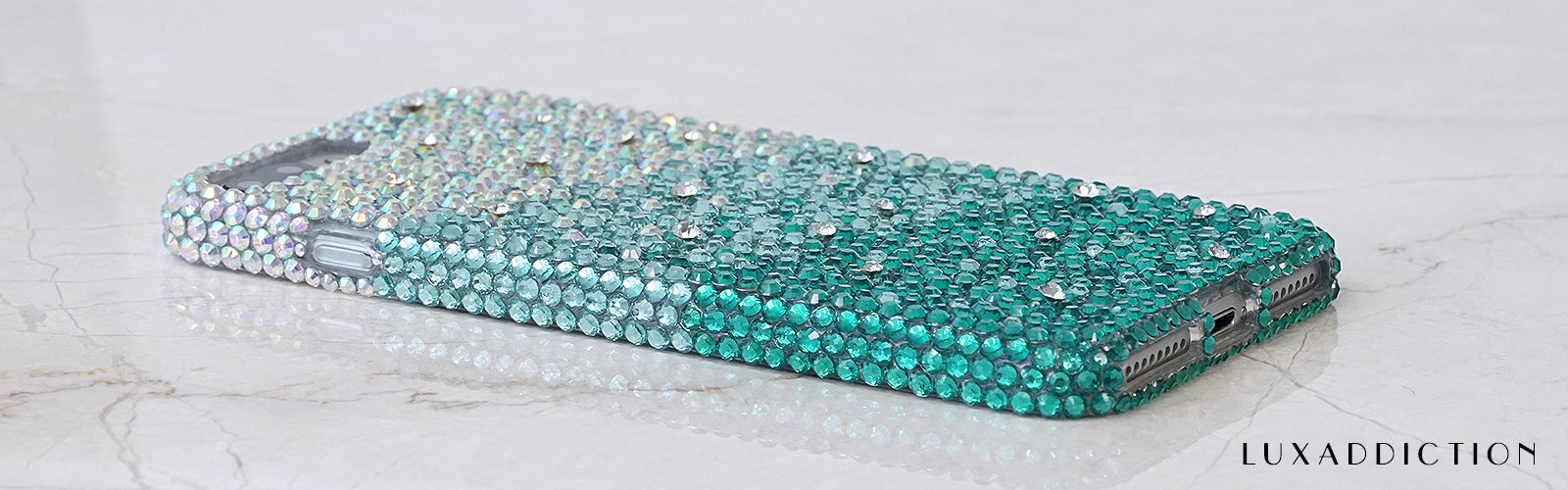 Turquoise crystals iphone 7 plus case