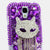 Lavendar Feline Design case made for Samsung Galaxy S4
