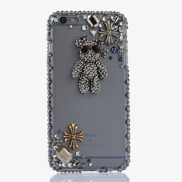 Bear Design custom handmade crystal case for iphone 7 / 7 PLUS