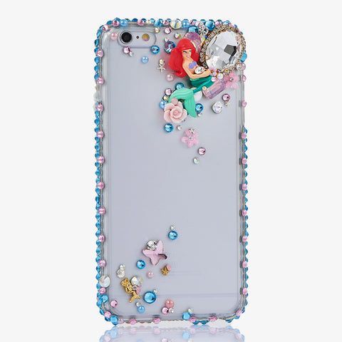 Mermaid bling crystals case for iphone 7 Plus