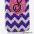 Purple and Clear Chevron Personalized Monogram Design case made for iPhone 5 / 5S