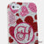 Pink Hearts Personalized Monogram Design case made for iPhone 5 / 5S