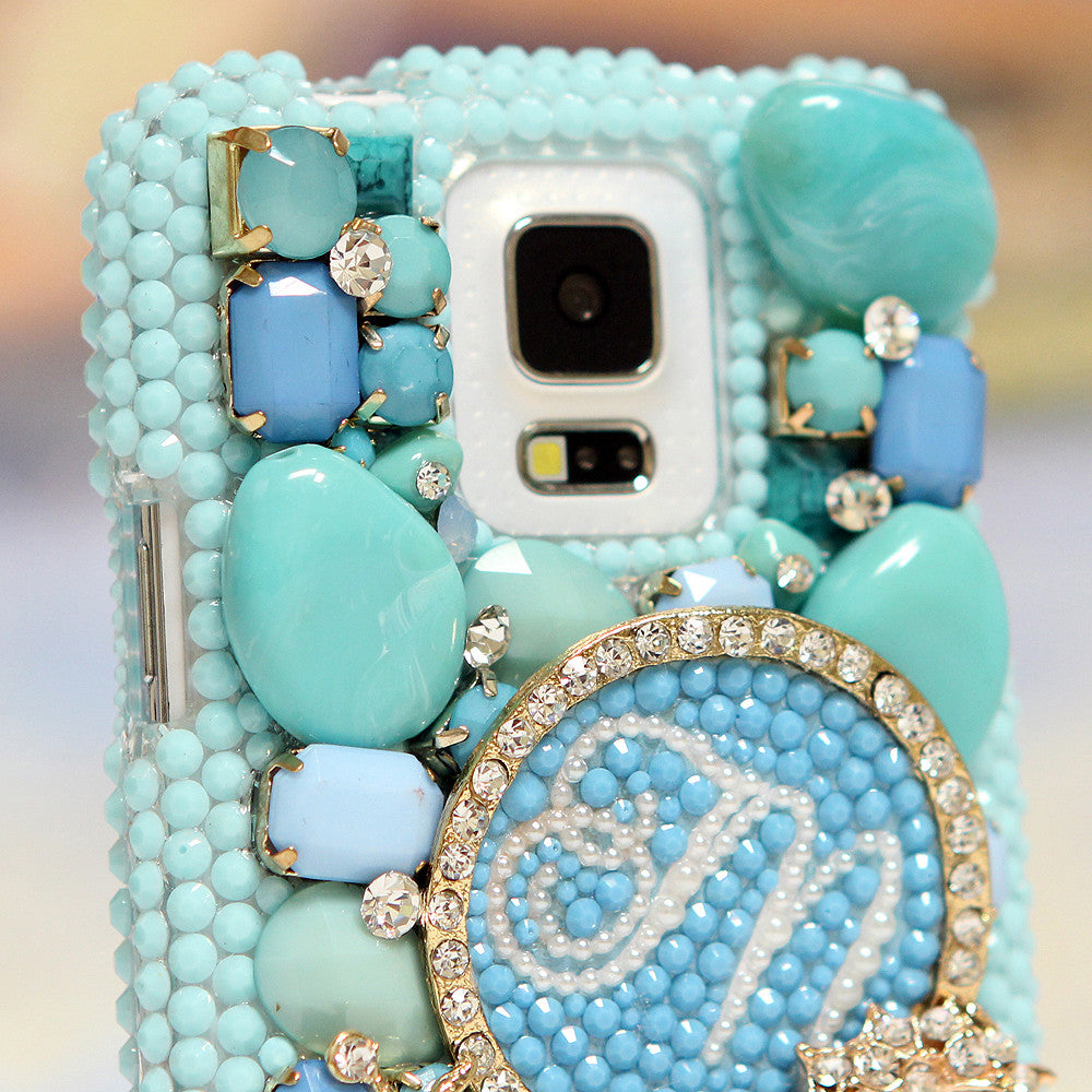 3D Diamond Seahorse Personalized Monogram Design case made for Samsung Galaxy S5