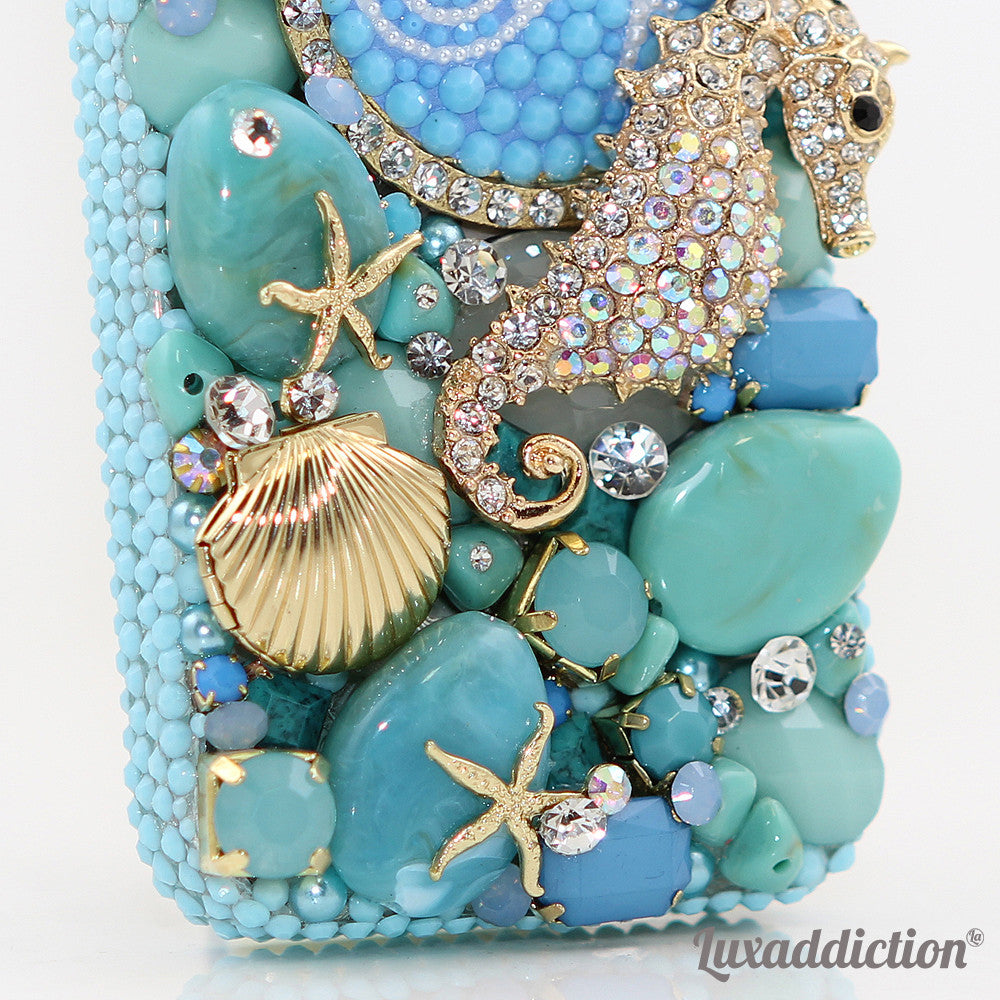 3D Diamond Seahorse Personalized Monogram Design case made for iPhone 5 / 5S