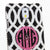 Black And Pearls Personalized Monogram Design case made for Samsung Note 3