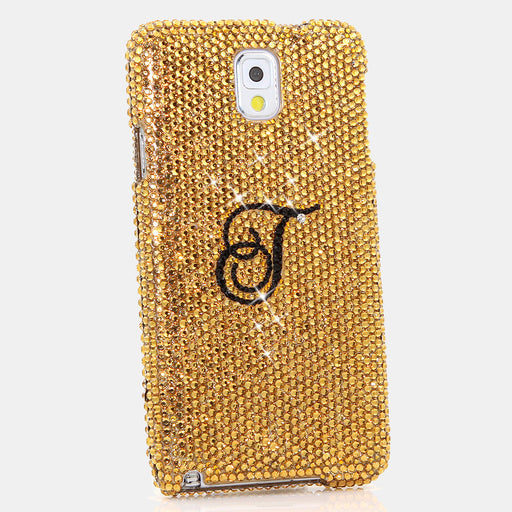 Royal Gold Personalized Monogram Design case made for Samsung Note 3