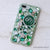 green monogram iphone case