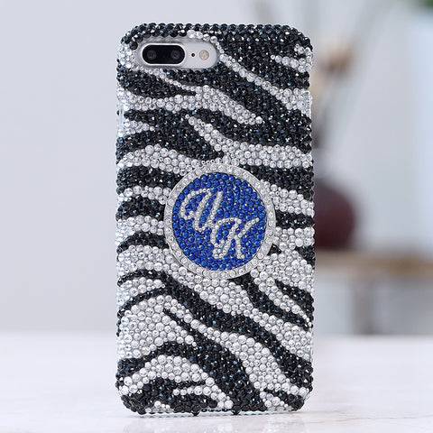 Zebra Personalized Monogram iphone 7 plus case