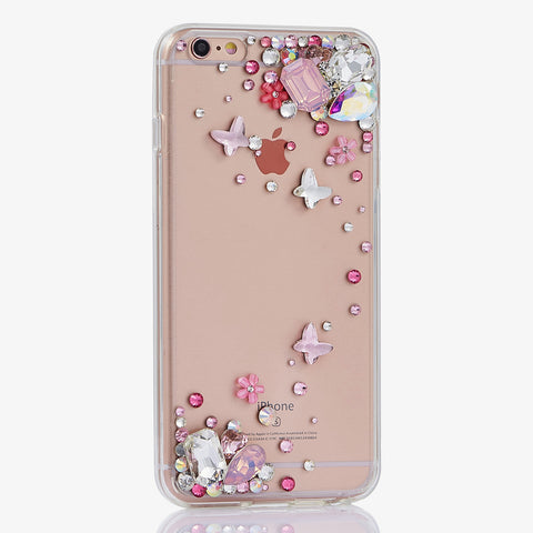 butterfly crystals iphone 7 Plus case